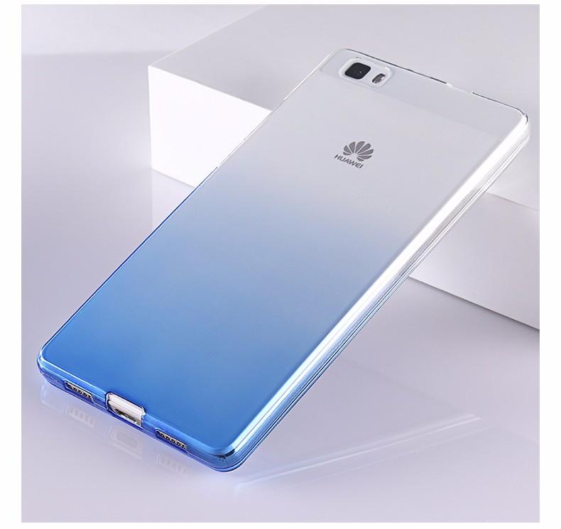 Ultra-cienki przezroczysty miękka tpu case dla huawei p8 p9 plus p8 lite krzemu gradientu telefon ochronna pokrywa dla huawei p9 Shell 21
