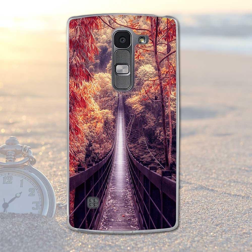 Fundas telefon case pokrywa dla lg spirit 4g lte h440y h422 h440n h420 miękka tpu kwiaty zwierzęta dekoracje telefon pokrywa dla lg duch 13