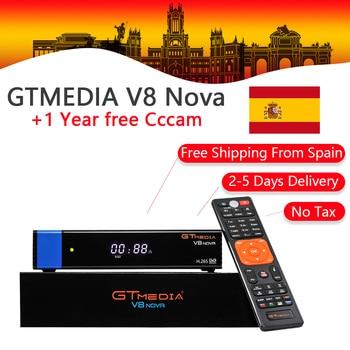 GTMedia V8 Nova DVB-S2 Satellite Receiver +1 Year CCcam Clines