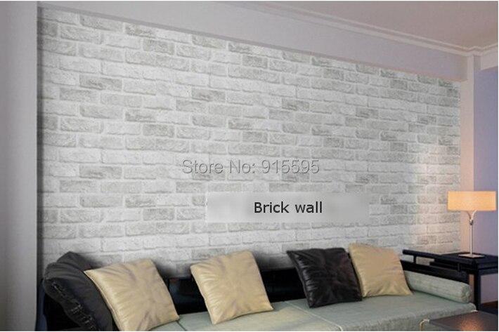 Głęboko Tłoczone 3D Tapeta Nowoczesna Zabytkowe Cegły Cegły Kamienia Wzór Papieru Rolki Tapety Dla pokoju gościnnego okładzina Ścienna Decor 8