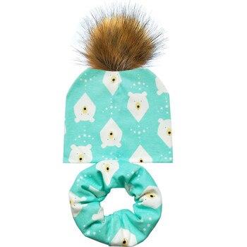 45001d024 2019 New Spring Baby Hat Pom Pom Ball Hat Baby Girls Boys Beanies