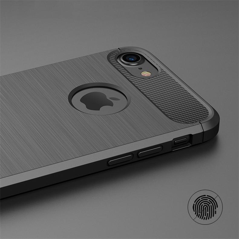Luksusowe wstrząsoodporny telefon case for iphone 7 7 plus 6 6 s plus 5 5S se case new carbon fiber miękka tpu rysunek phone case back cover 5