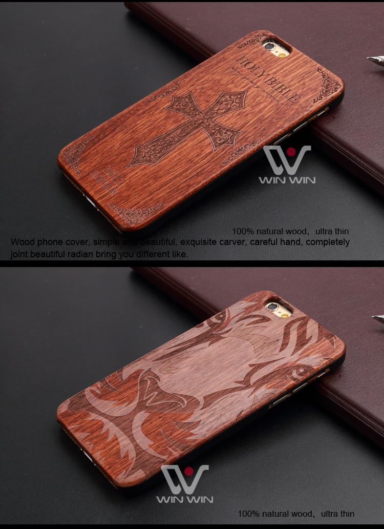 U & i marka cienki luksusowe natural wood telefon case for iphone 5 5s 6 6 s 6 plus 6 s plus 7 7 plus pokrywa drewniane wysokiej jakości, odporna na wstrząsy 15