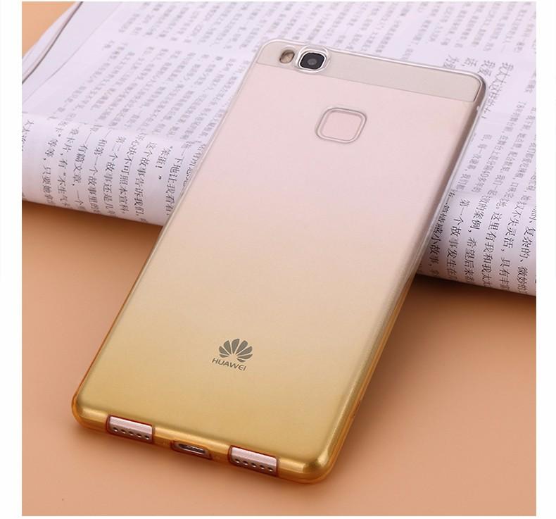 Ultra-cienki przezroczysty miękka tpu case dla huawei p8 p9 plus p8 lite krzemu gradientu telefon ochronna pokrywa dla huawei p9 Shell 15