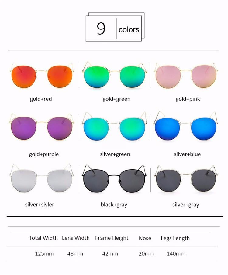 Vintage Round Mirror Sunglasses 2