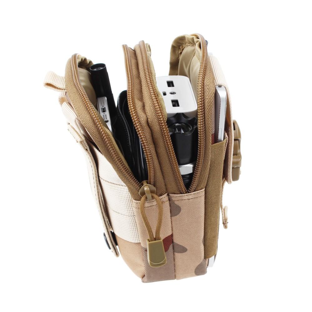 Uniwersalny Odkryty Wojskowy Molle Tactical Kabura Pasa Biodrowego Pasa Torba portfel kieszonki kiesy telefon etui z zamkiem błyskawicznym na iphone 7/lg 11