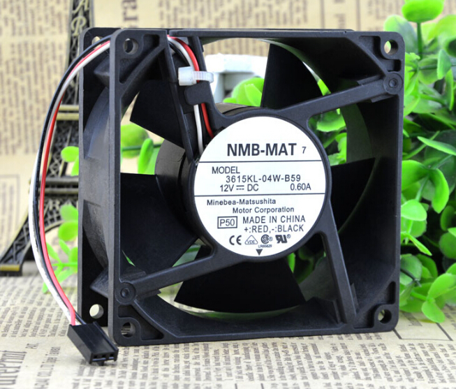 NMB 90*90*38 9CM 3615KL-04W-B59 12V 0.60A three line need large amount of wind fan