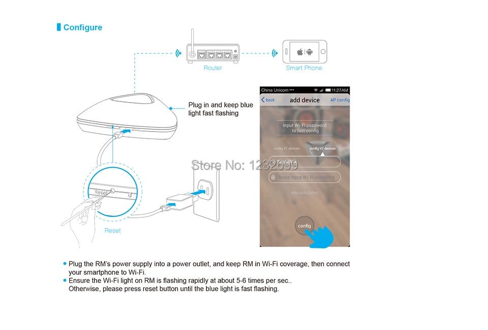 2017 Broadlink RM03 RM PRO Uniwersalny Inteligentny Pilot Smart Home Automation WiFi + IR + RF Przełącznik Poprzez IOS Android Telefon 27
