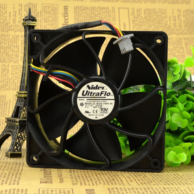Free Shipping For Nidec V12E12BSB5-07A02 DC 12V 3A 4-wire 110mm, 1x1x38mm Server Square fan