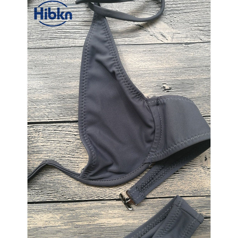 Bikini 2017 wysoka cut stringi stroje kąpielowe kobiety Brazylijski Biquini strój kąpielowy wysokiej talii strój kąpielowy Stałe pływać plaża micro bikini set 7