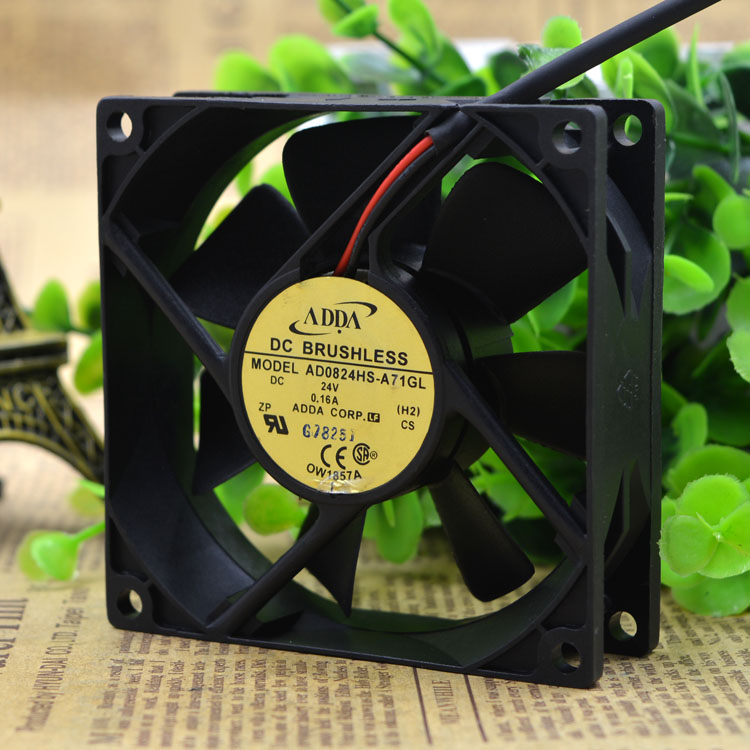 ADDA 8CM 8025 0.16A inverter fan AD0824HS-A71GL DC24V