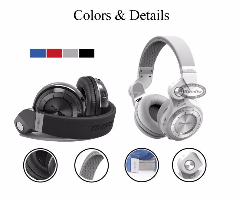 Bluedio t2s (brake fotografowania) słuchawki stereofoniczne słuchawki bezprzewodowe bluetooth 4.1 zestaw słuchawkowy bluetooth nad słuchawek dousznych 10
