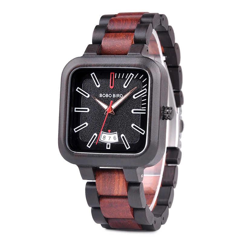 f880f7c10 relogio masculino BOBO BIRD Watch Men Wooden Quartz Watch Mens Watches Top  Brand Luxury Date Wristwatches