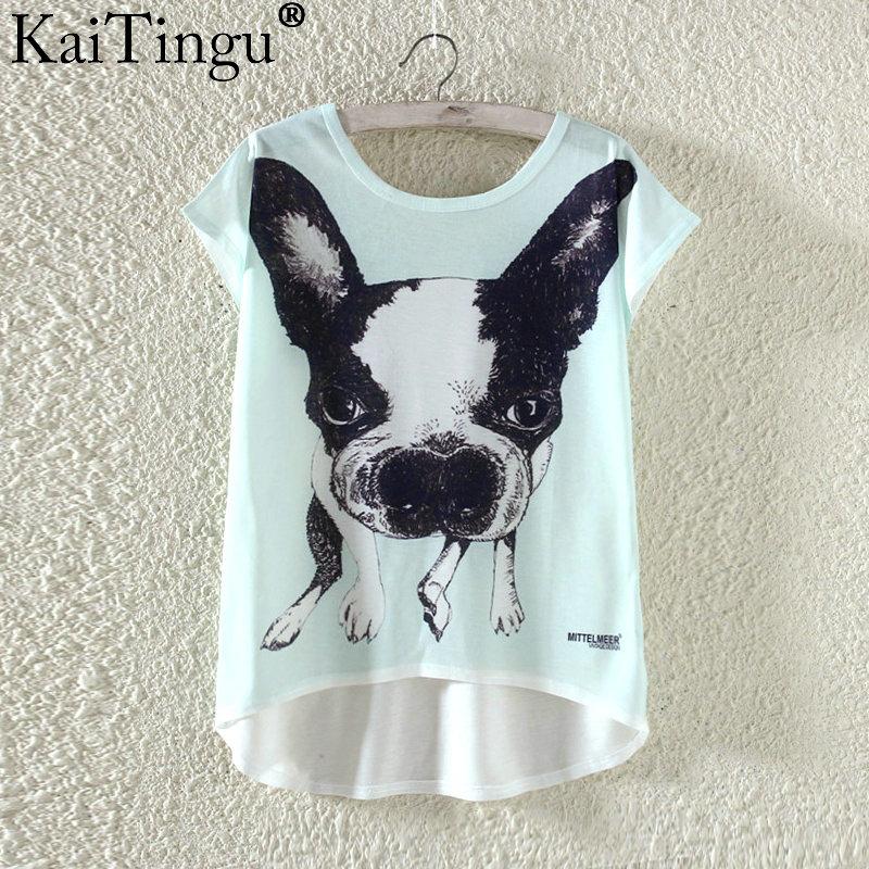 Kaitingu kawaii śliczne t koszula moda lato harajuku wysoki niski styl cat print t-shirt z krótkim rękawem t shirt kobiet topy plus size 24