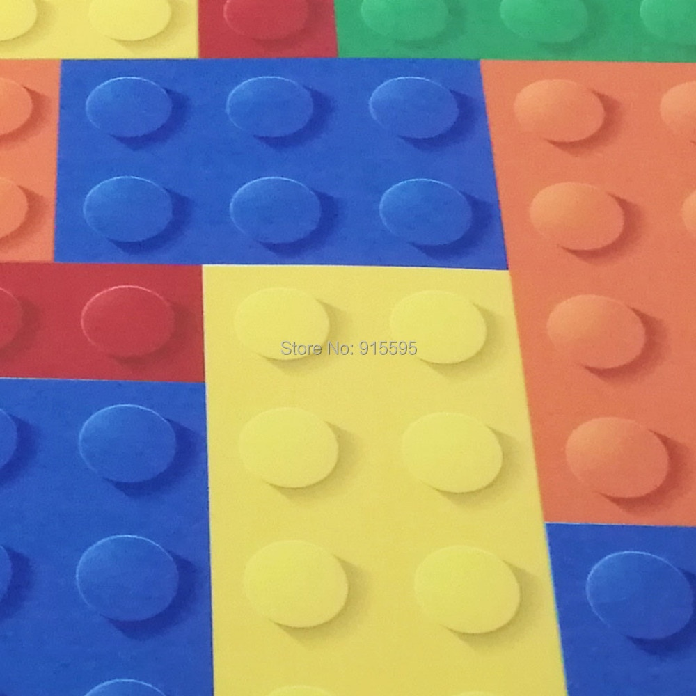 Rozmiar niestandardowy 3d malowidła ścienne tapety do salonu sypialnia dla dzieci sklep z zabawkami lego bricks włókniny mural tapety wystrój 6