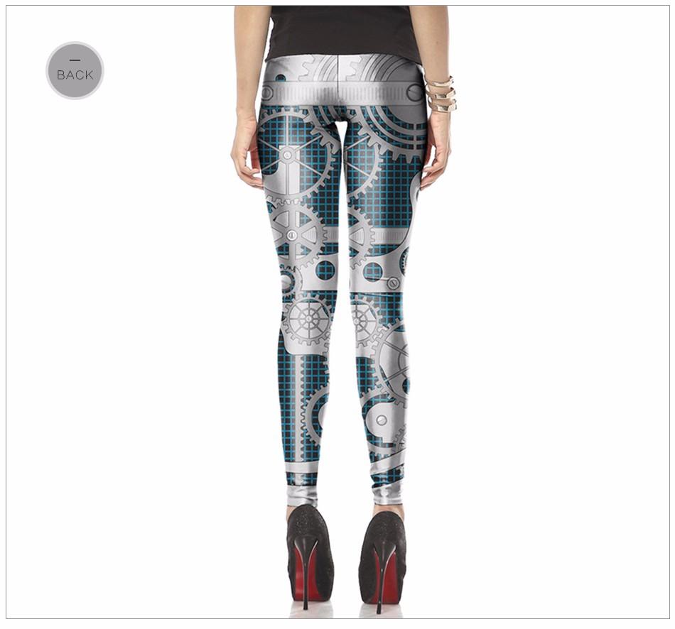 [Jesteś My Secret] Fashion Legginsy Kobiety Steampunk Star Wars Mujer leggin Kobiety Biegów Mechaniczna 3d Druku Cosplay hurtownie 17