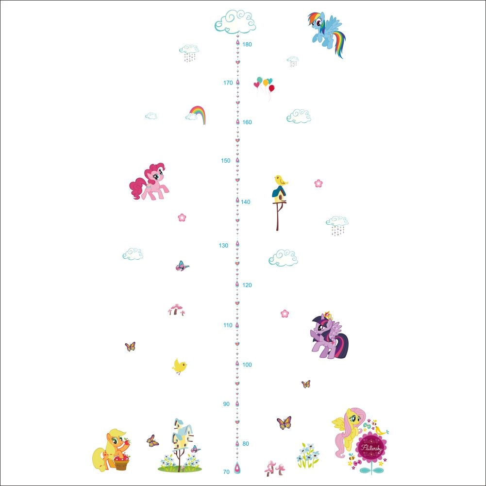grow with pony growth chart wall stickers decals for girls room package include 1 wall sticker please note the size have a small error range and product size not equal final size on the wall please diy