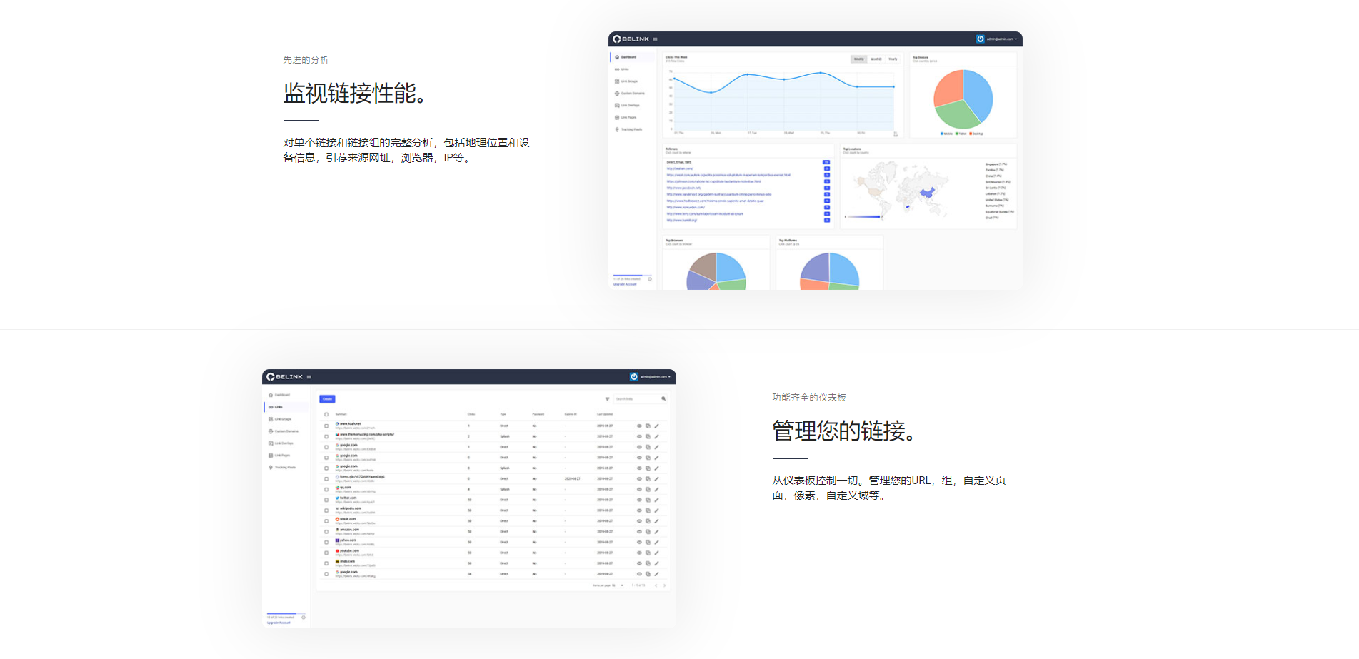 BeLink v1.0.4网站URL缩短器短域名生成源码-天盈博客