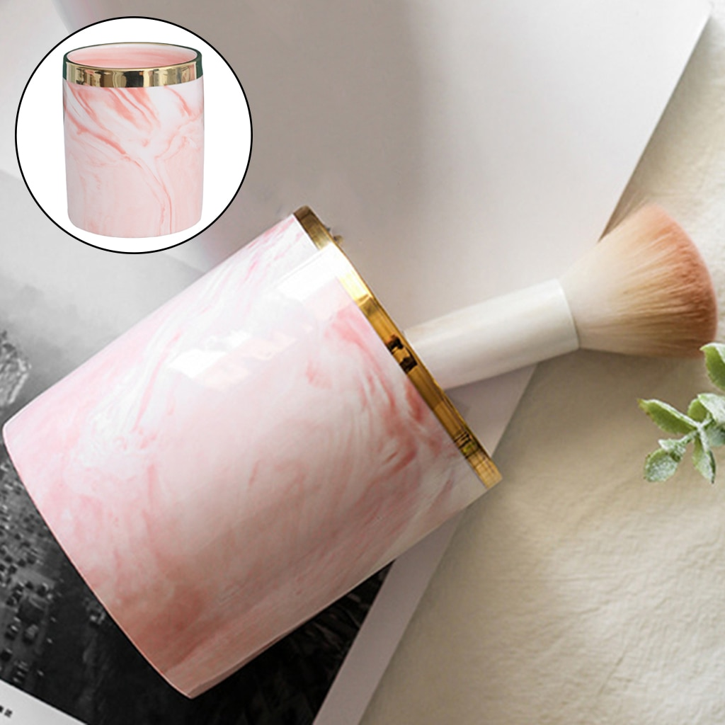 Pencil Cup Desk Container Storage Multiuse Makeup Pen Brush Holder Cup