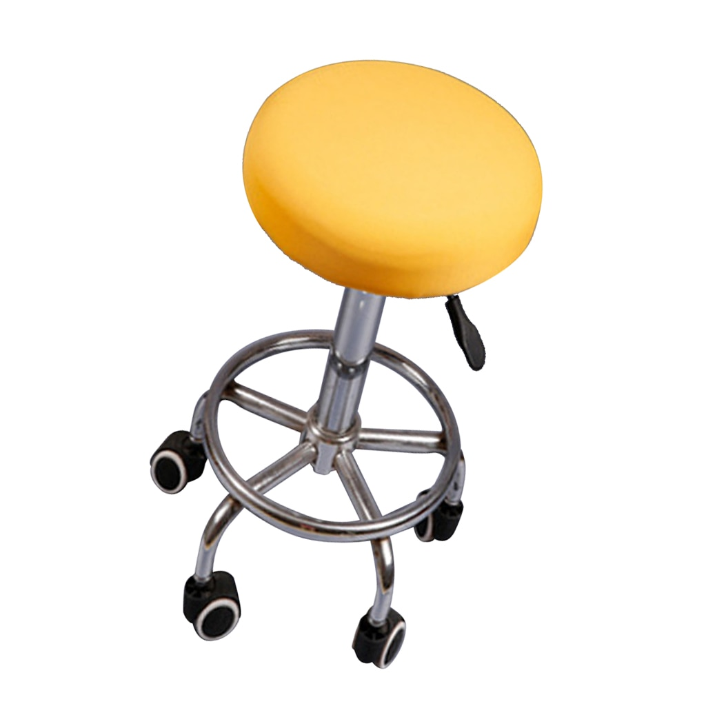 Chair Covers Bar Stool Covers Rotate Round Replacement Removable Chair Seat Cover Cushions Sleeve sedia