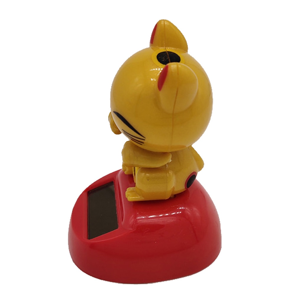 Solar Powered Lucky Cat Dancing Ornament  Toy Home Decor