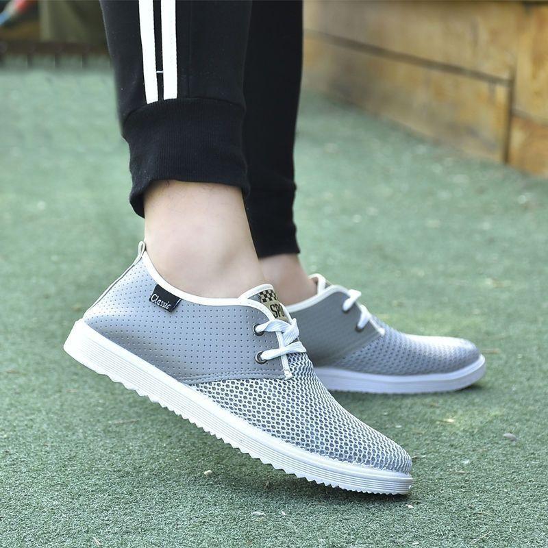 Sapatos de pano masculino casual macio inferior