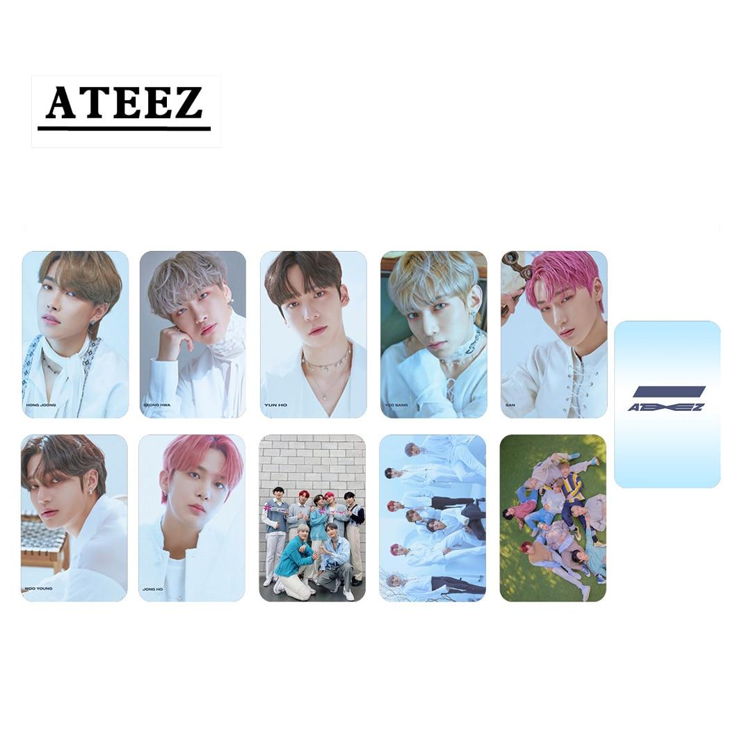 10pcs/set ATEEZ Photocard New album ZERO FEVER Part2 Series (Double Side) 13