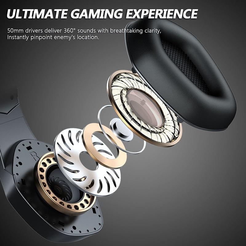 Fones de ouvido profissional gaming headset com