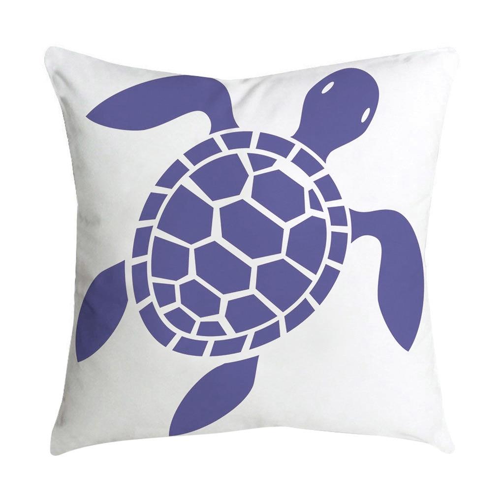 housse de coussin tortue de mer