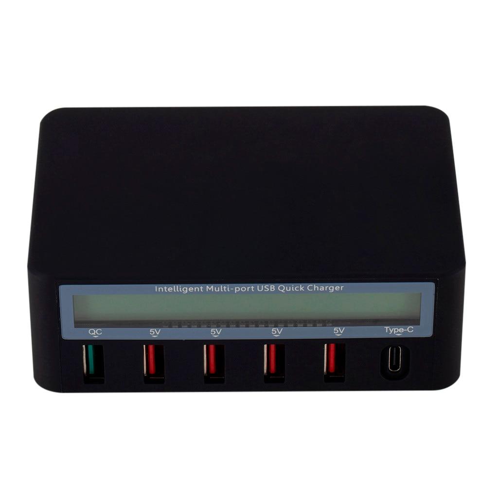hub de carga rápida com display lcd
