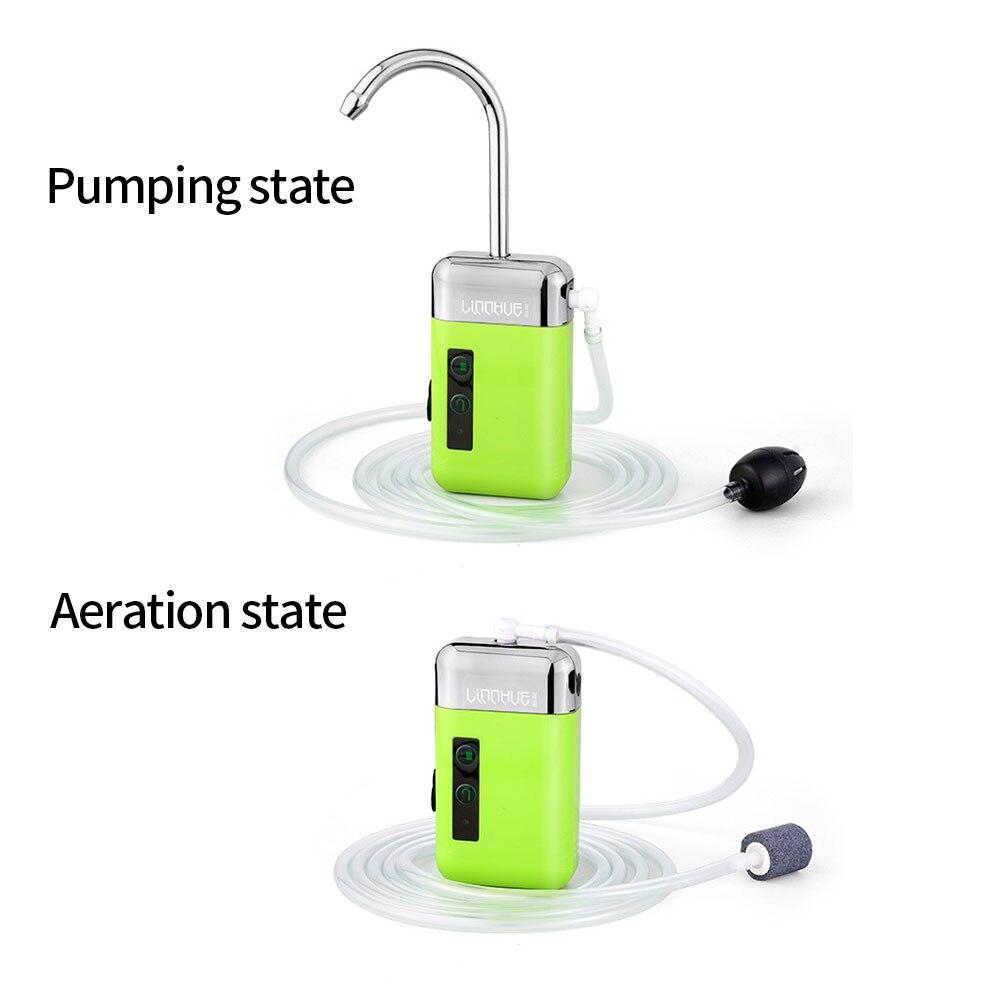 recarregável indução automática pesca bomba oxigênio pequeno portátil inteligente