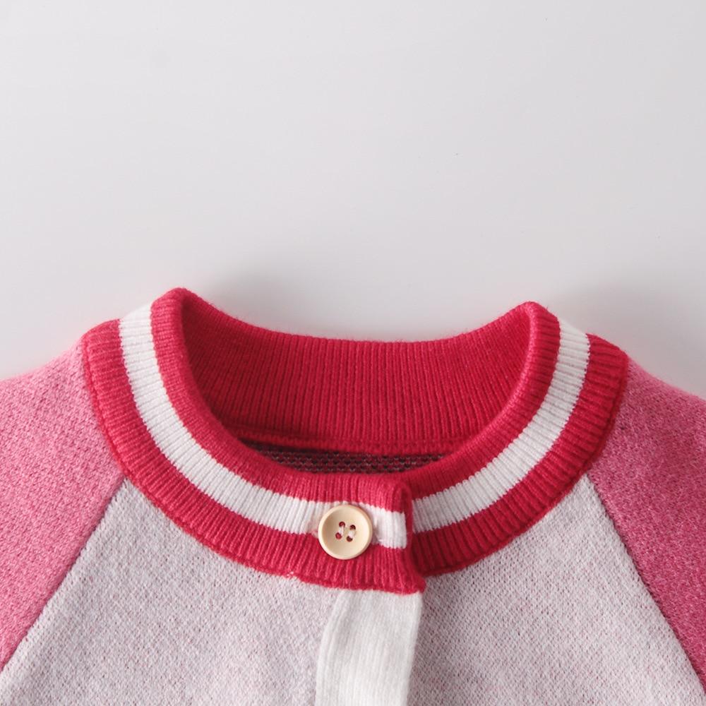 Cardigã de malha para crianças, roupas para
