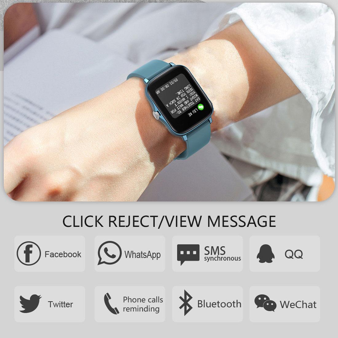 2021 nova y20 relógio inteligente 1.7 grande