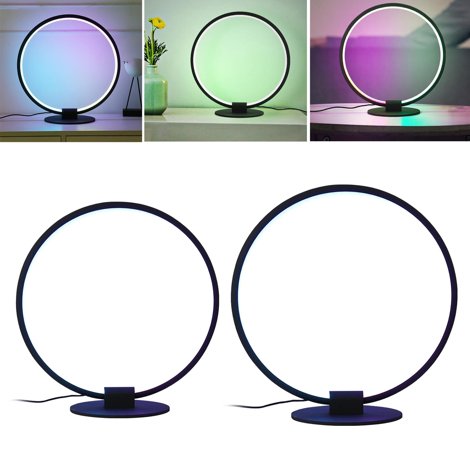 Modern LED Desk Lamp Nightlight RBG Color Changing Office Lighting Decor