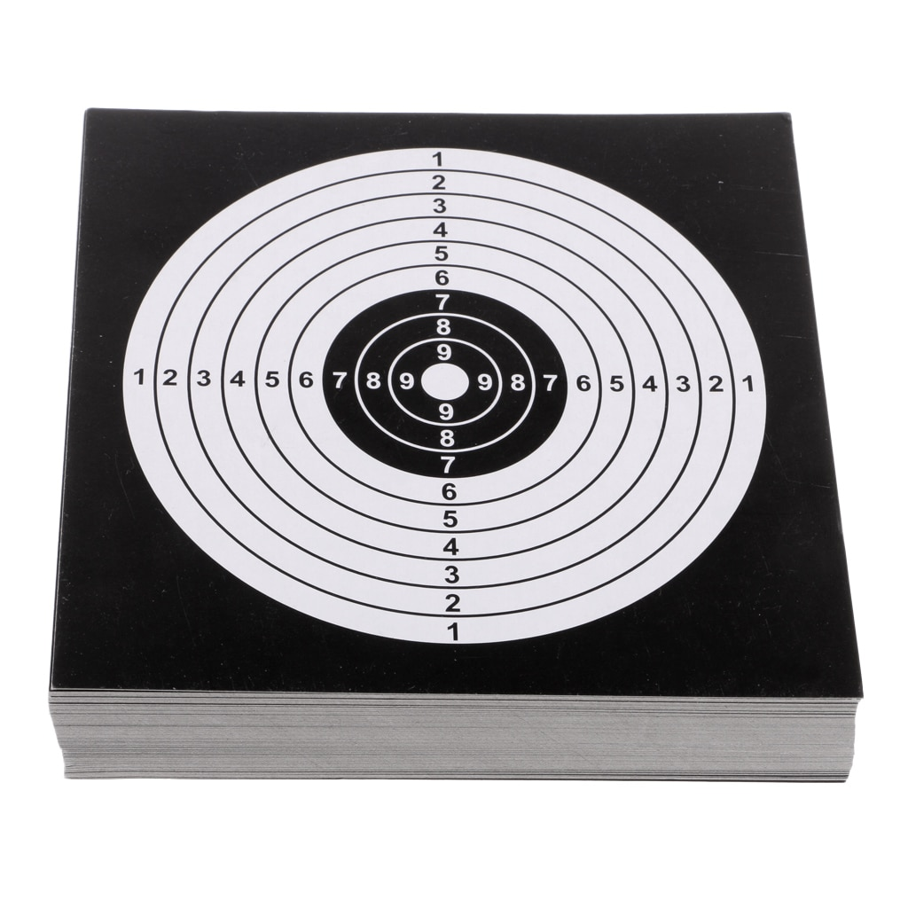 100Pcs 14cm Card Targets Paper Target Shooting Archery Hunting