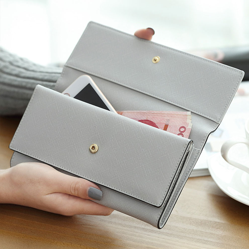 Grande capacidade multifunction carteira organizador múltiplo slot