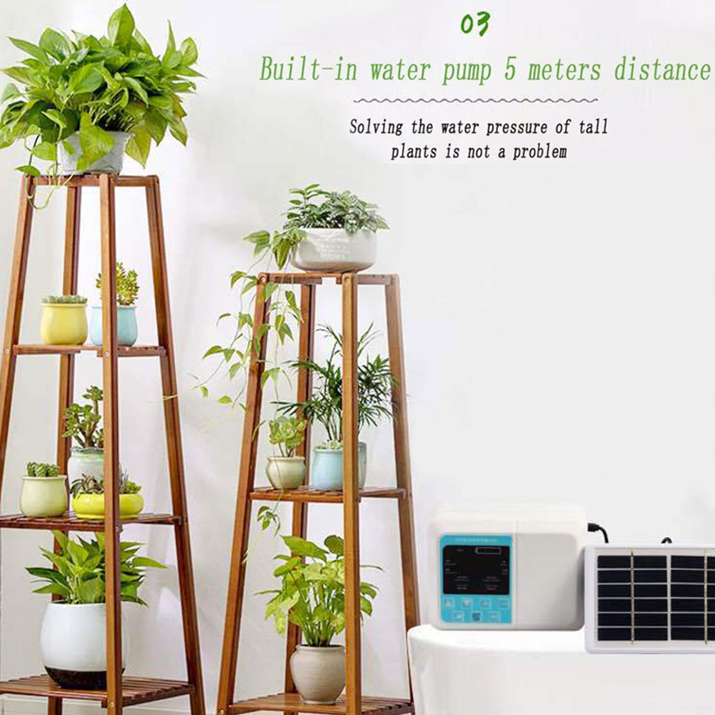 Solar powered ferramenta jardim fácil instalar planta