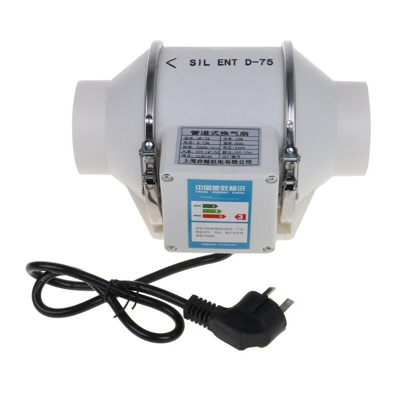Inline duto ventilador de tubulação extrator impulsionador