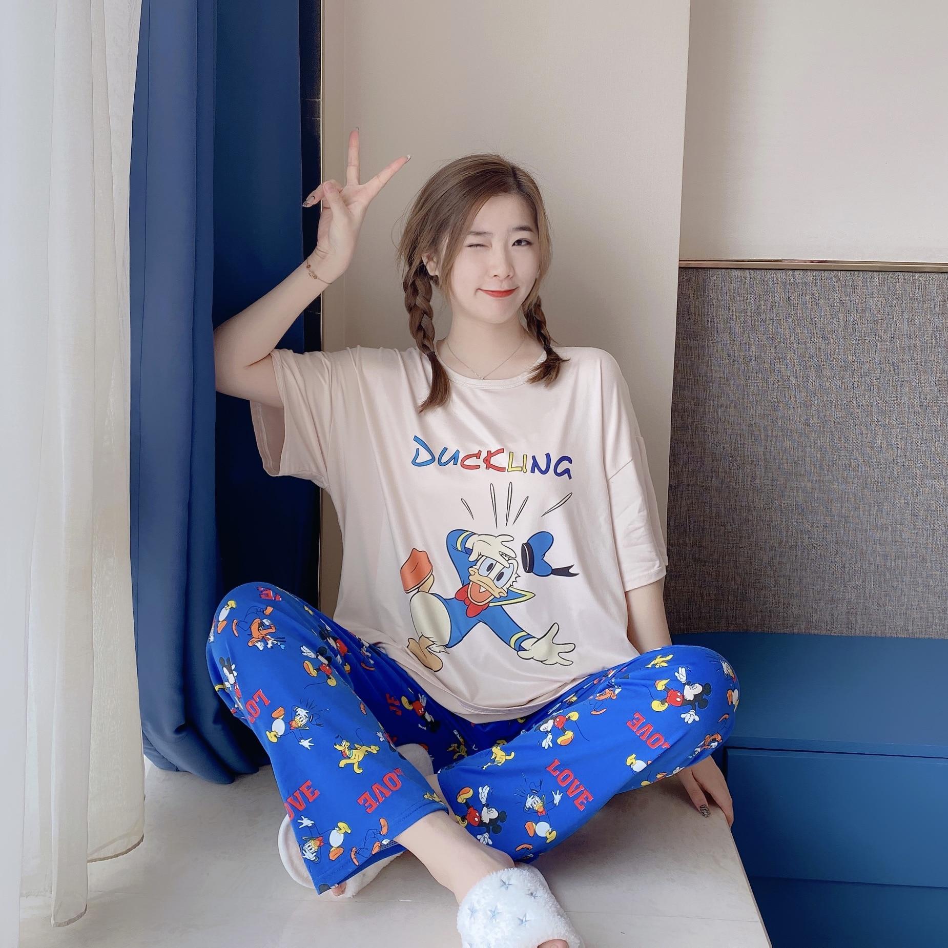 Pijamas originais da disney, minnie e mickey,