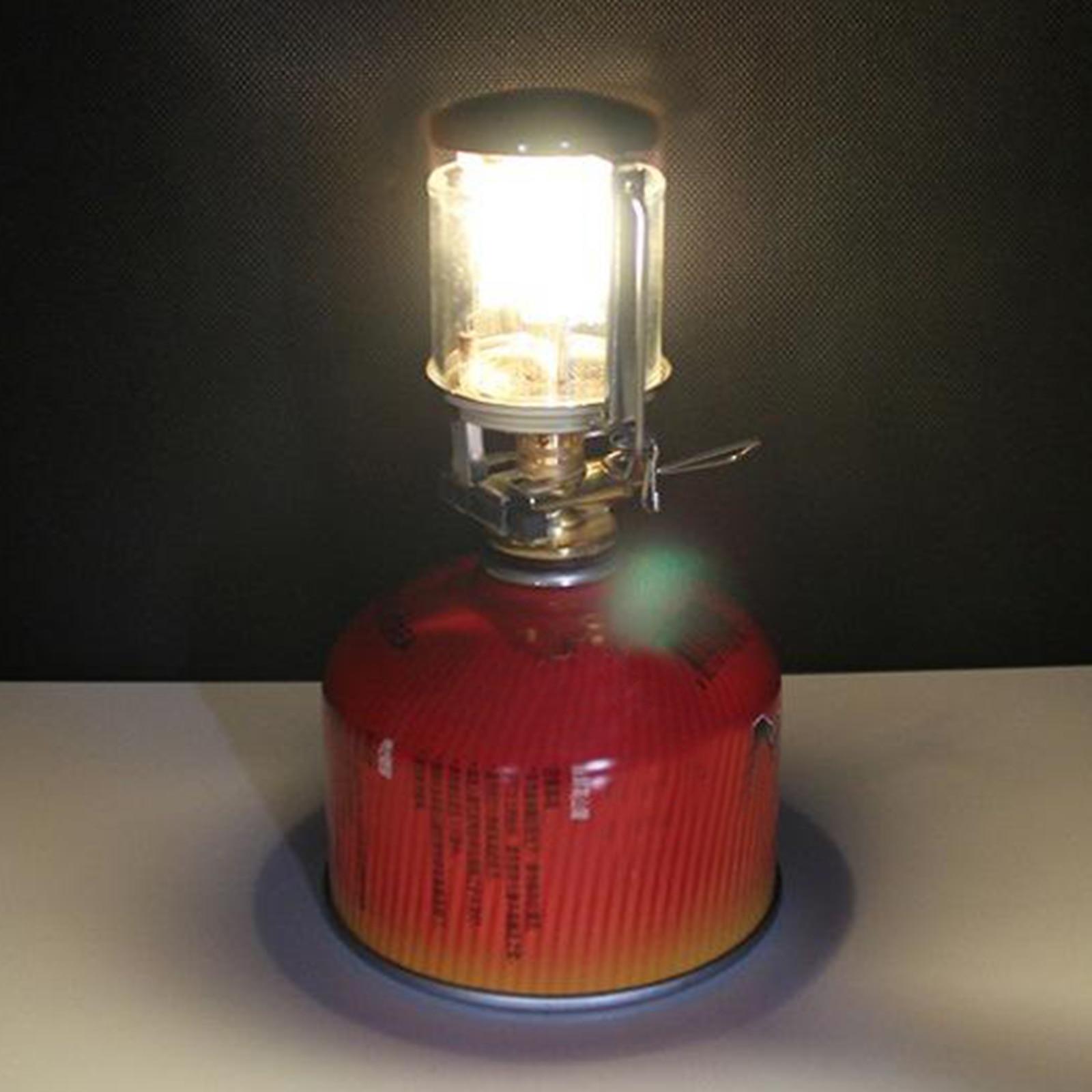 Mini Gas Lantern Fuel Lamp Adjustable Tent Light Trekking Torch Heater Stove