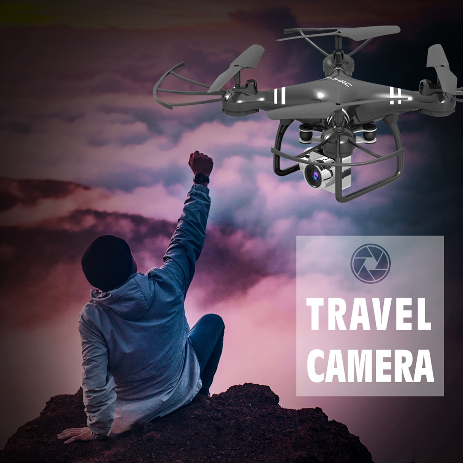 Hd8144eac37d74ab885cc26d10a1c0c8bA - Hjhrc Four-axis Aerial Photography Aircraft Drone With Camera Hd 4k Wifi Fpv Foldable Drone Height Holding Headless Quadcopter