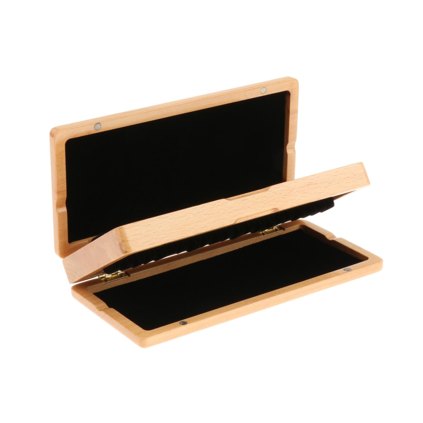 Portátil de madeira maciça oboé reed caso