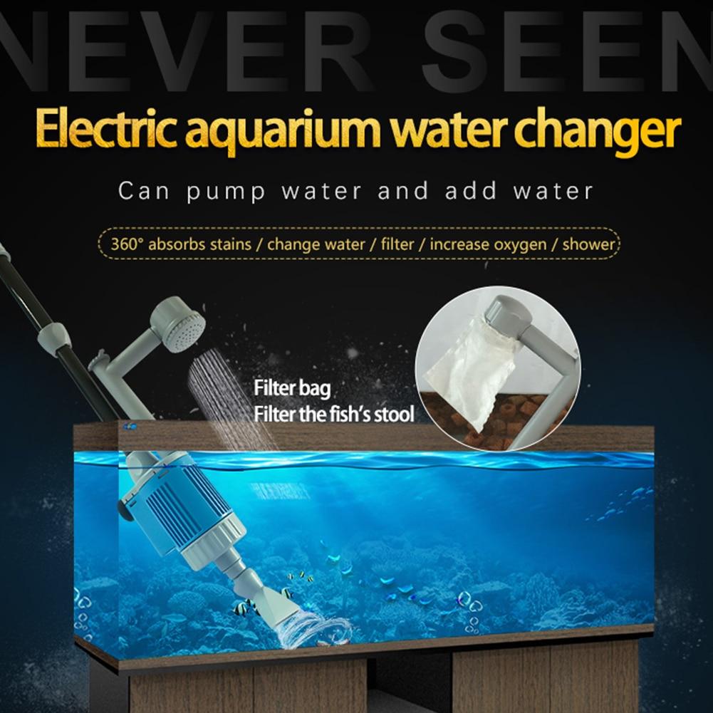 trocador de água do aquário multifuncional filtro