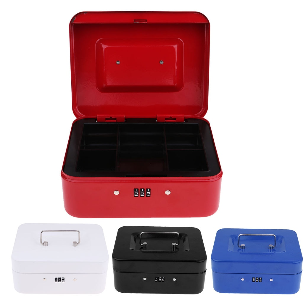 MagiDeal Small Cash Box Piggy Bank Money Box with Combination Lock for Home Security