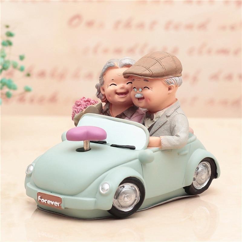 Amor dura estatueta o casal idoso aniversário