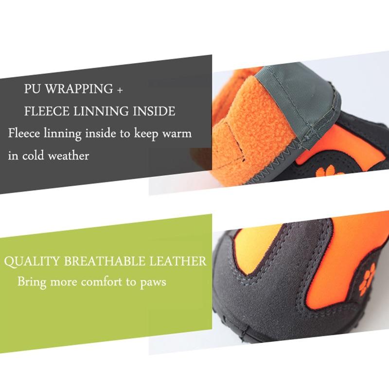 reflexiva botas de cão anti-deslizamento malha sapatos