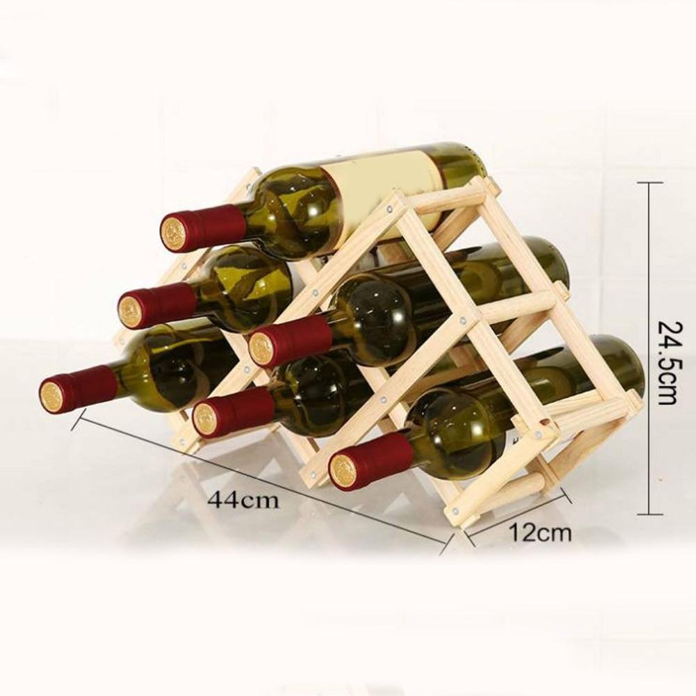 dobrável prateleiras de vinho detém 3 6 10 garrafas rack melhor preço