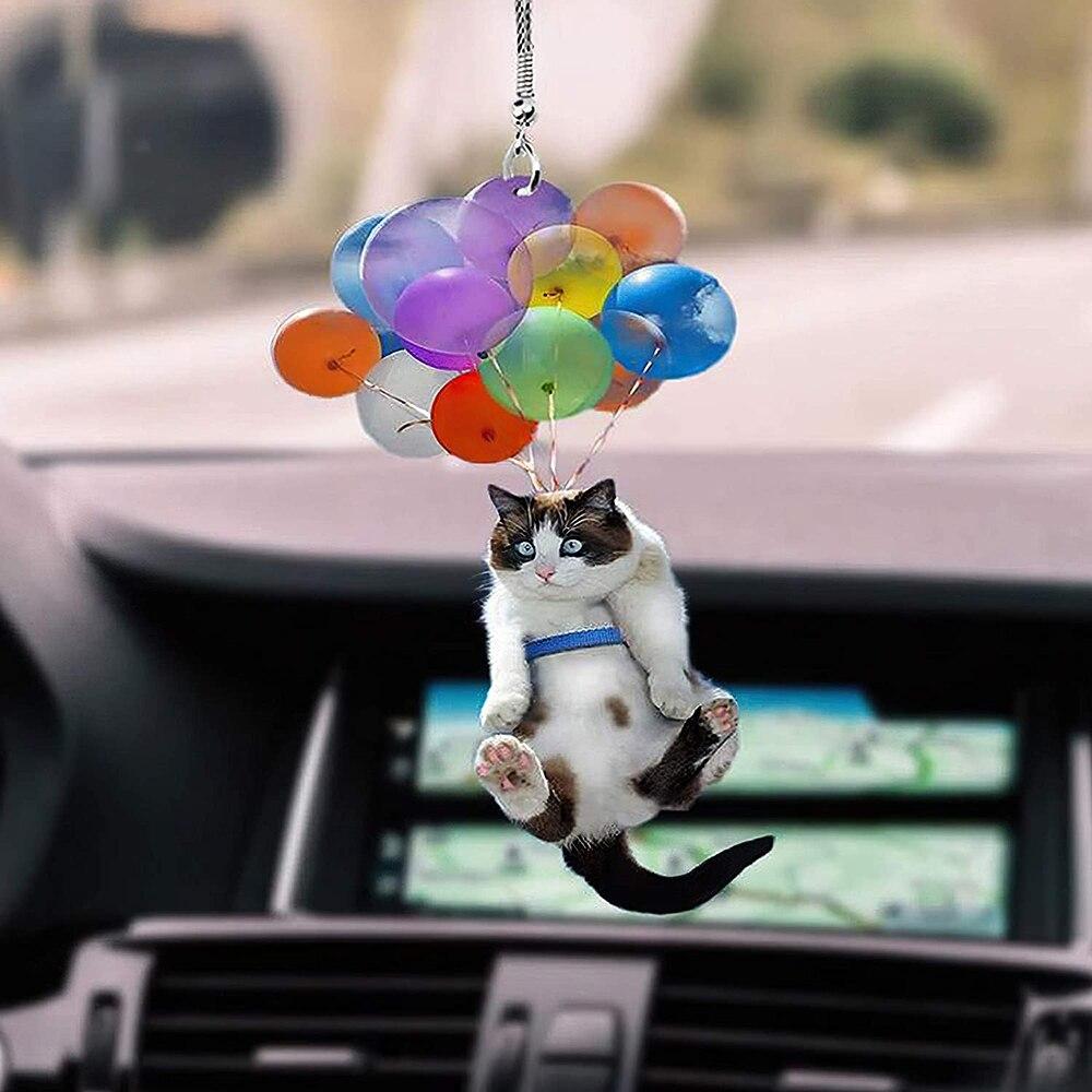 Cat Car Hanging Ornament