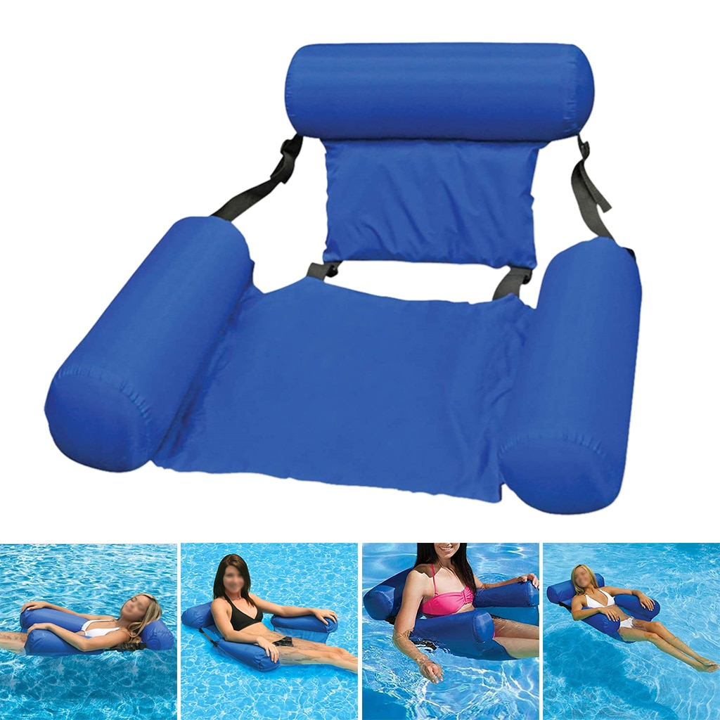 Inflatable Floating Water Hammock Float Pool Lounge Inflatable Raft Summer Water Floating Lounge Chair for Pool Lake Adults