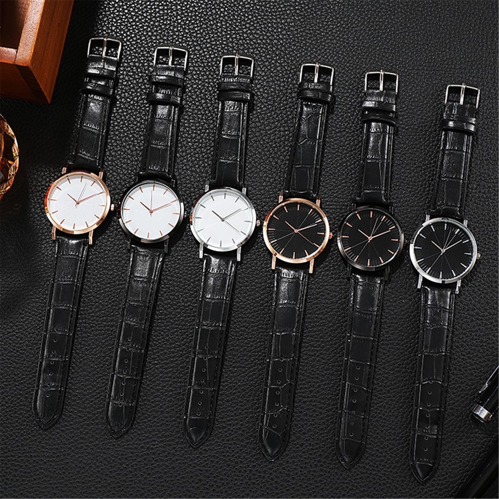 Leather Men's Business Quartz Watch Beautiful 2021 Design
